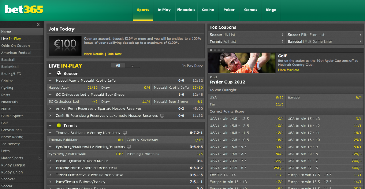 Bet365-sports betting