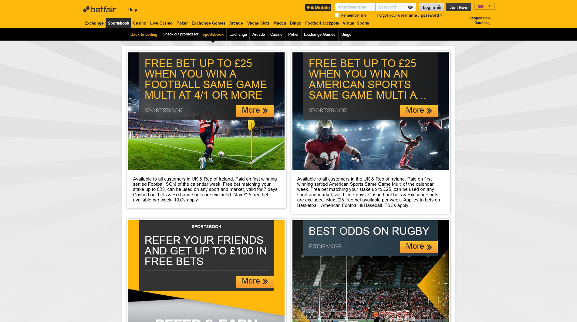 betfair bonuses and promotions