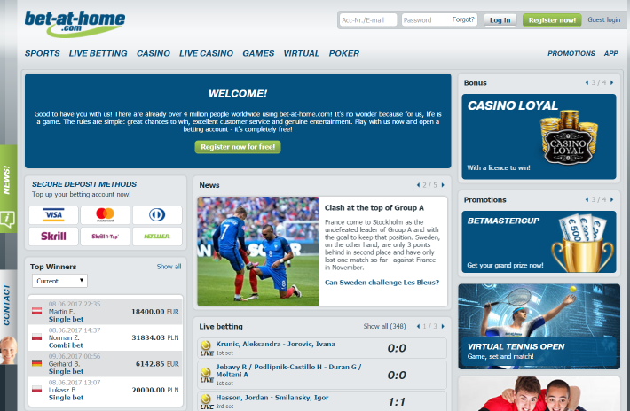 Bet-at-home bookmaker 1