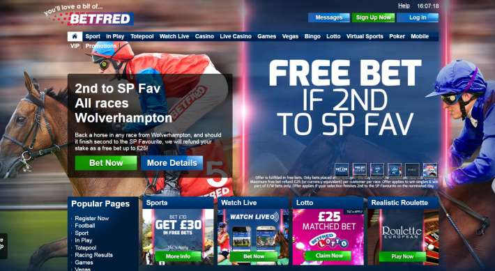 Betfred bookmaker 1
