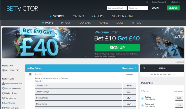 BetVictor Bookmaker 1