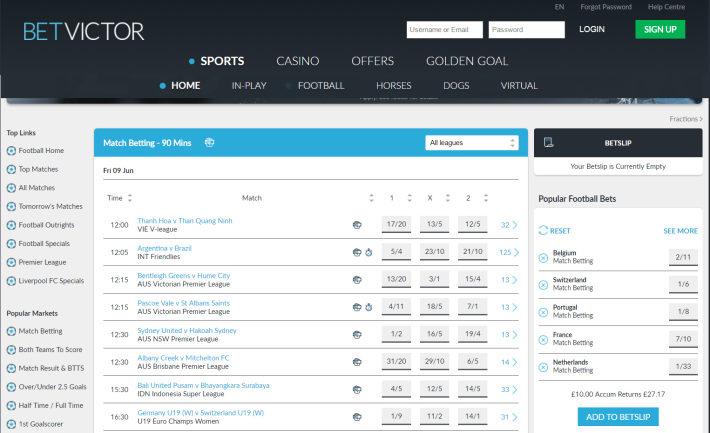 BetVictor Bookmaker 2