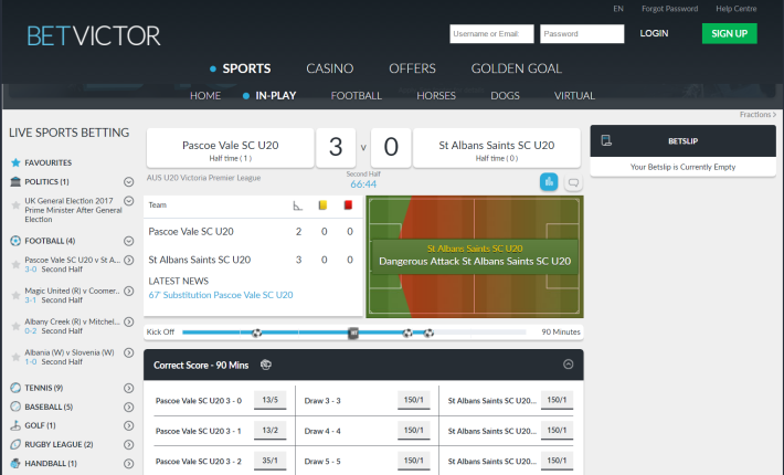 BetVictor Bookmaker 3