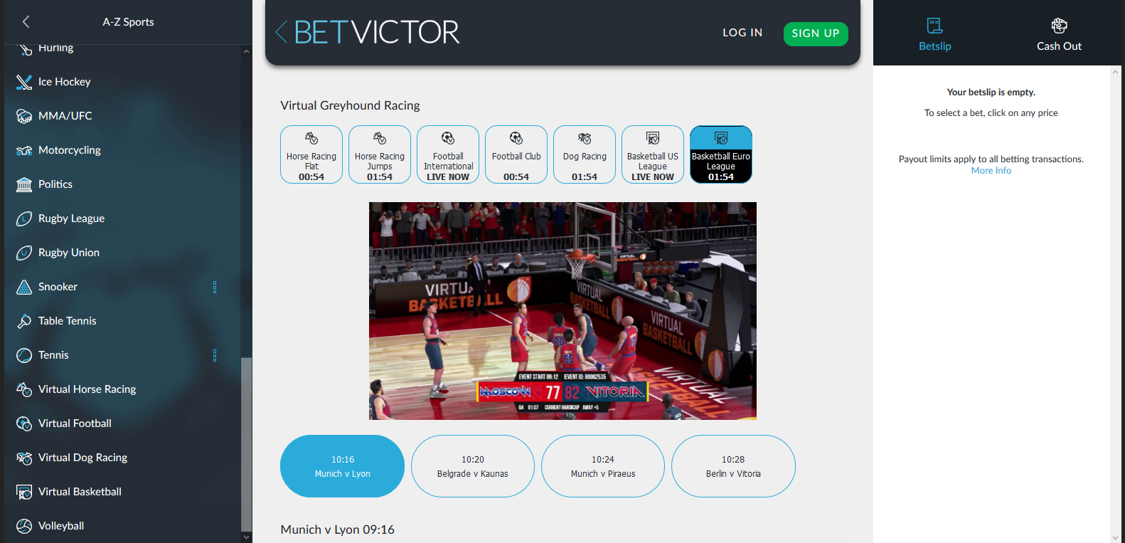 betvictor virtual sports