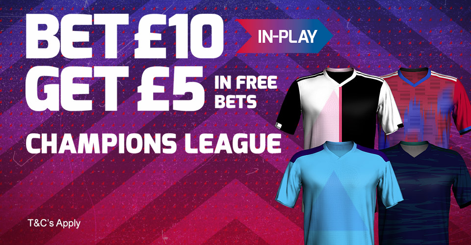 bookmaker betfred bonus champions league promotion