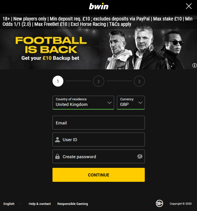 bookmaker bwin registration page