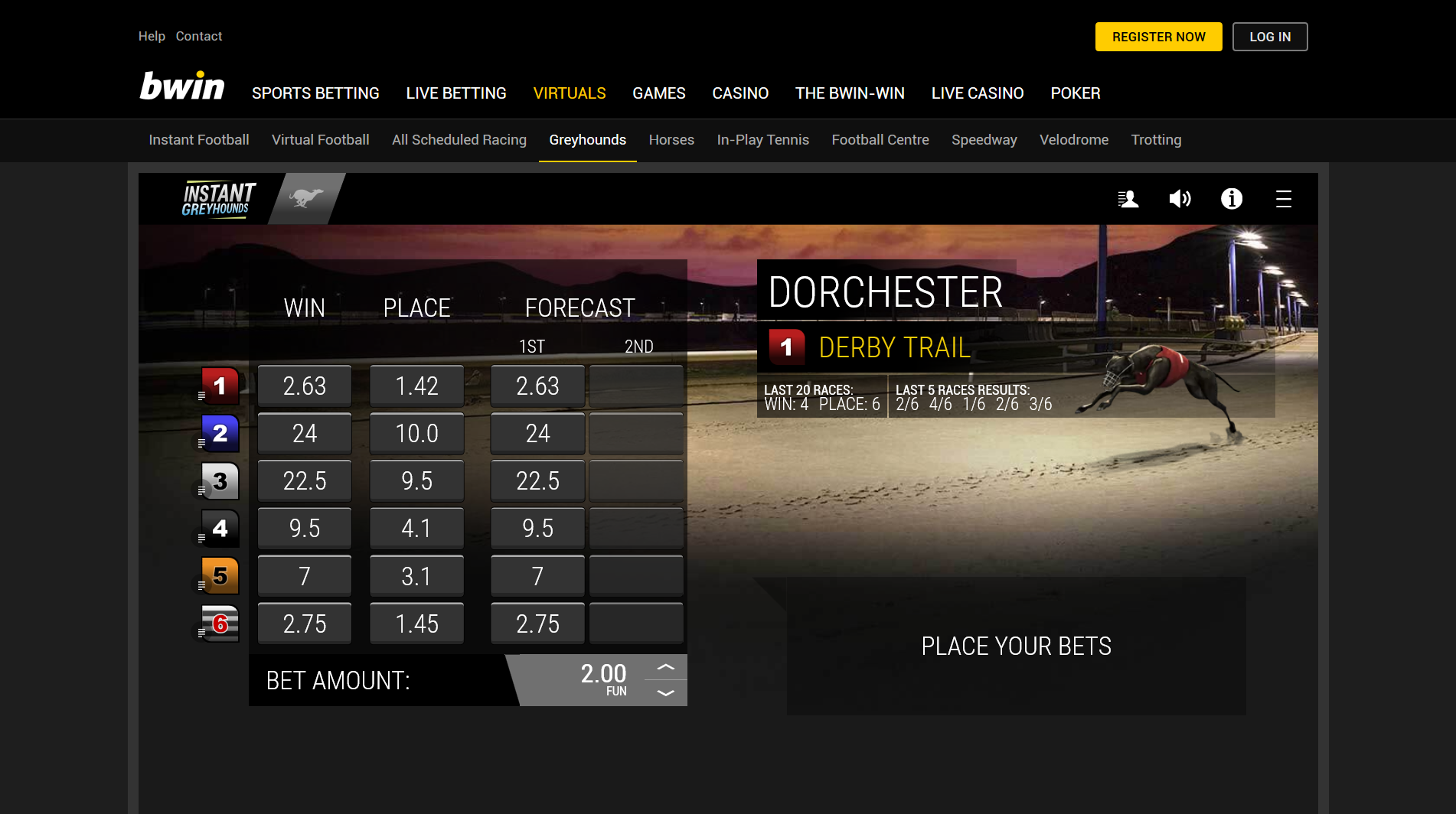bookmaker bwin virtual sports