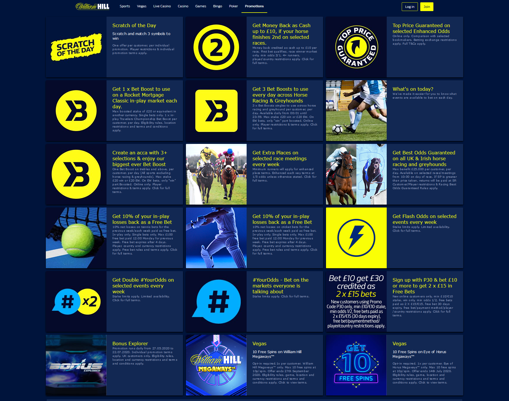 bookmaker william hill bonuses and promotions