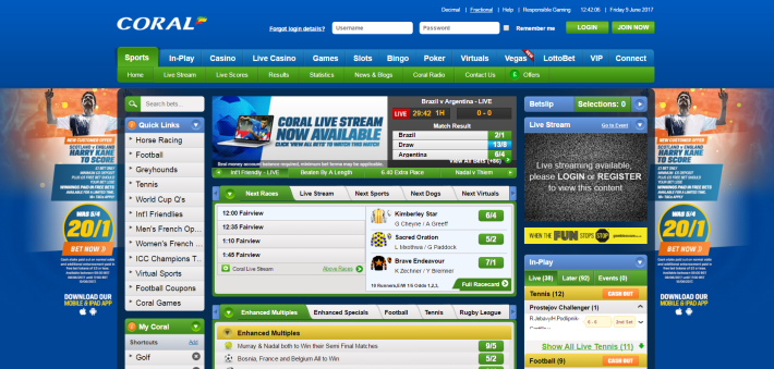 Coral bookmaker 2