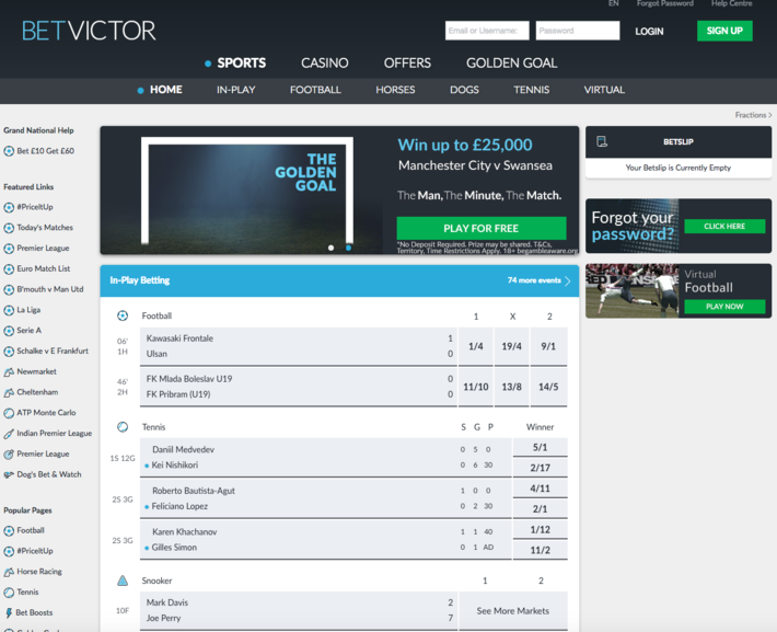 betvictor home