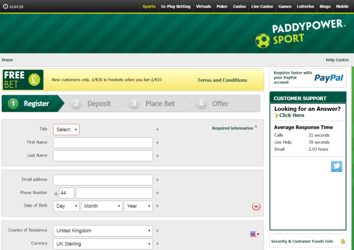 Paddy Power Bookmaker 1