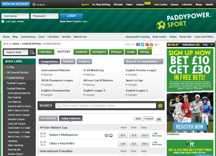 Paddy Power Bookmaker 2