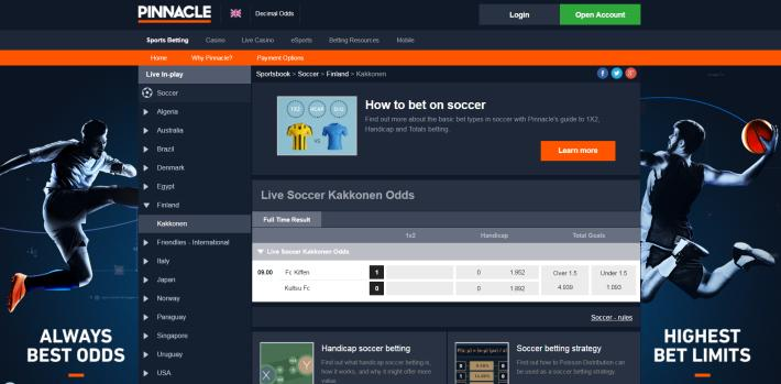 Pinnacle Bookmaker 3