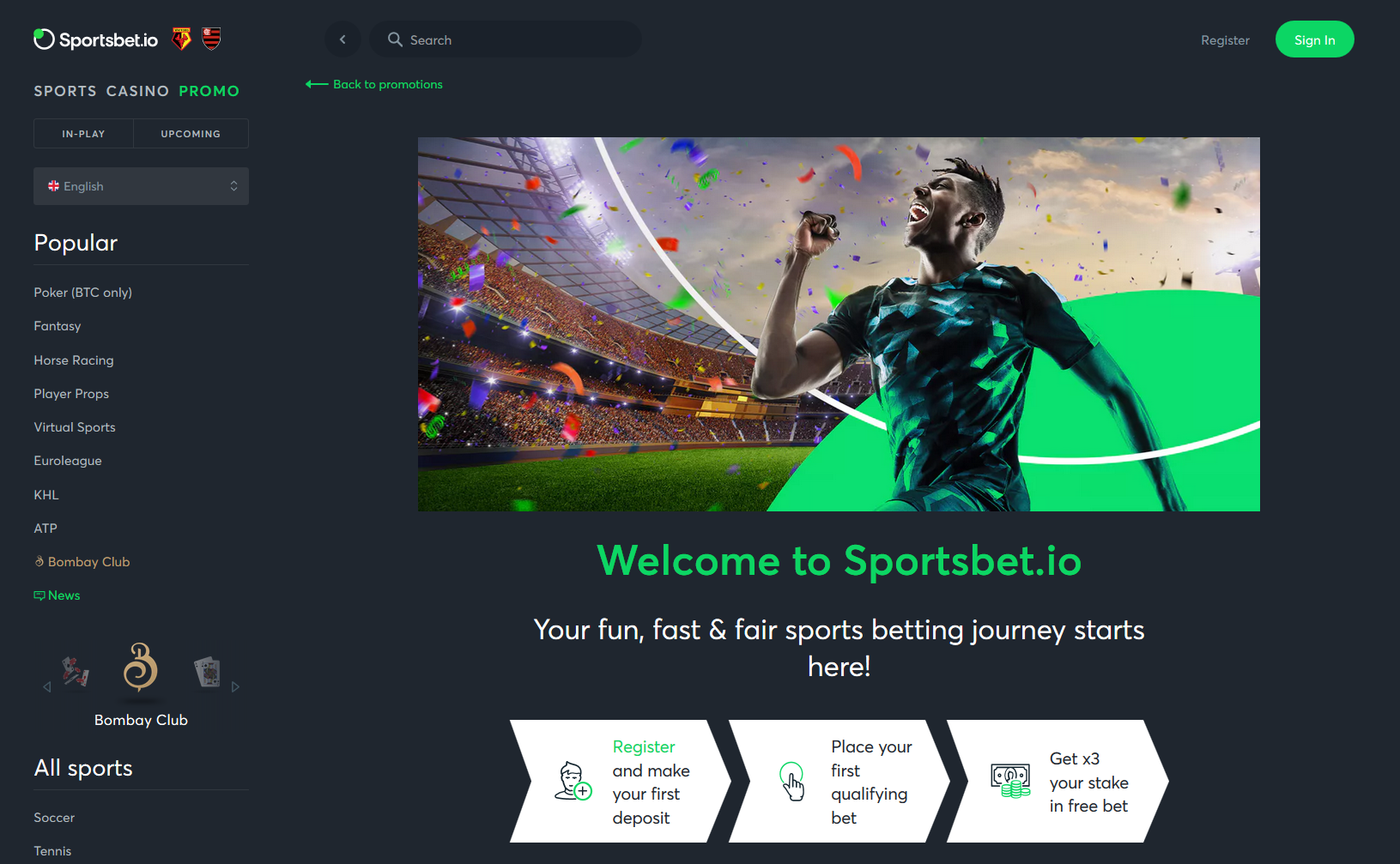 sportsbet.io welcome offer